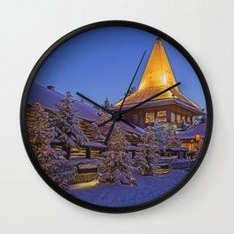 Santas Village. Wall Clock