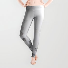 Silver and White Leggings