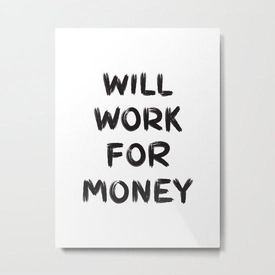 Money Metal Print