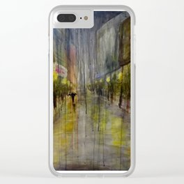 Silent Night Clear iPhone Case