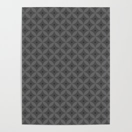 Abstract geometric pattern gray 2 Poster