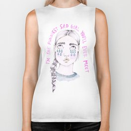 Funniest Sad Girl Biker Tank