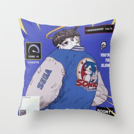 Sonic Boy Throw Pillow