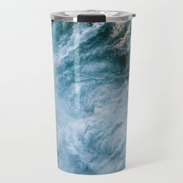 Wave in Ireland during sunset - Oceanscape Travel Mug
