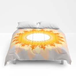 The Sun in the Fog Comforters