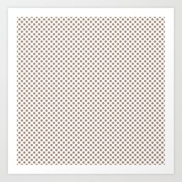 Warm Taupe Polka Dots Art Print