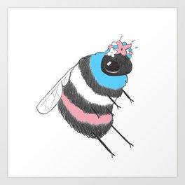 Trans Pride Bee Art Print