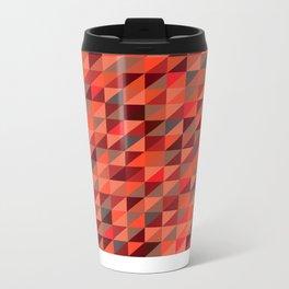 Quilted Reds / Retro Triangles Metal Travel Mug