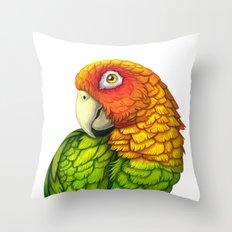 Amazon Parrot Throw Pillow