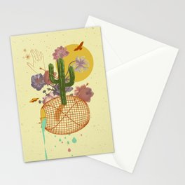 SPACE TIME DESERT Stationery Cards