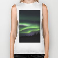 northern lights Biker Tanks featuring Northern Lights by Pamela Barron