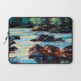 Toby Waters creek painting by Dennis Weber / ShreddyStudio Laptop Sleeve