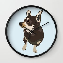 Hopeful Dog Wall Clock