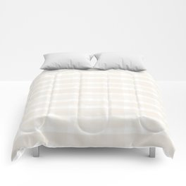 Creamy Off White SW7012 Watercolor Brushstroke Plaid Pattern on White Comforters