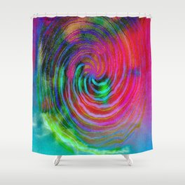 Colorful galaxy Shower Curtain