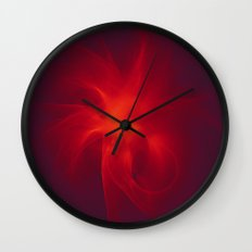 Flames Within Wall Clock
