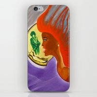 sister iPhone & iPod Skins featuring SISTER by KEVIN CURTIS BARR'S ART OF FAMOUS FACES