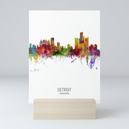 Detroit Michigan Skyline Mini Art Print