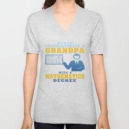 Mathematics Degree Grandpa Unisex V-Neck