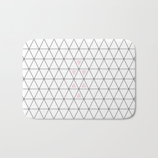 Pink triangle Bath Mat