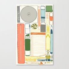 Office supplies Canvas Print