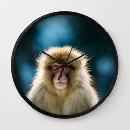 Snow Monkey Wall Clock