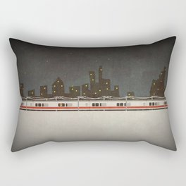 Train Scene Rectangular Pillow