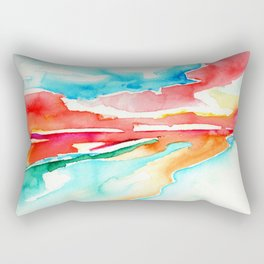 fire in the sky - beach at sunset Rectangular Pillow
