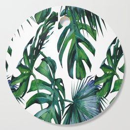Tropical Palm Leaves Classic Cutting Board