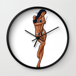 KING - CLUBS Wall Clock