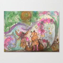 Foxglove Slippers Canvas Print