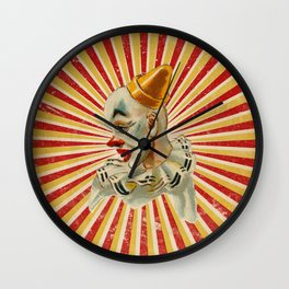Scary vintage circus clown Wall Clock