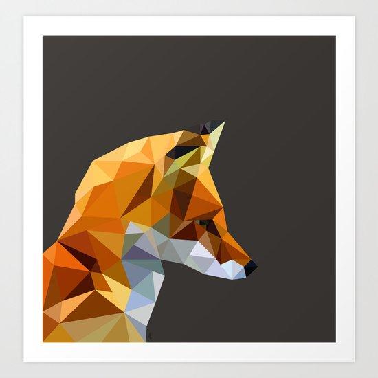 LP Fox Art Print