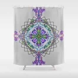 Cross Mandala Shower Curtain