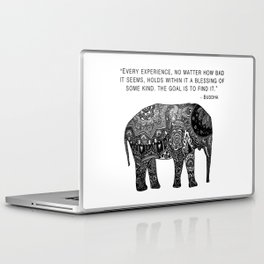 Buddha Quote with Henna Elephant Laptop & iPad Skin