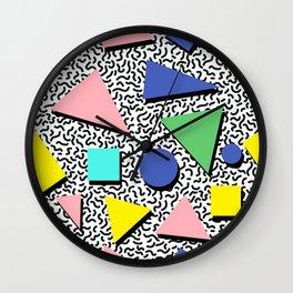Memphis pattern 5 Wall Clock