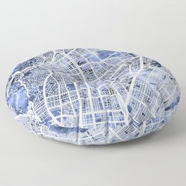 Cali Colombia City Map Floor Pillow