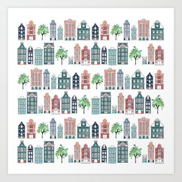 Amsterdam neighbourhood Art Print