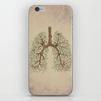 breathe iPhone & iPod Skins featuring Breathe! by Marcelo Jiménez