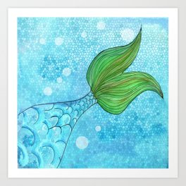 Mysterious Mermaid Art Print