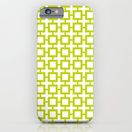 Lime Trellis iPhone Case