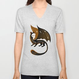 Black Stoat Unisex V-Neck