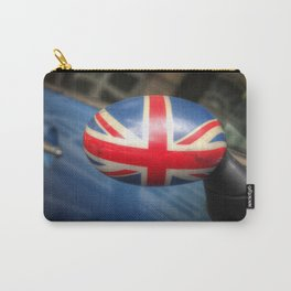 Union Jack painted on a rearview mirror Carry-All Pouch