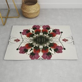 Pretty Mallows and Poppies Rug