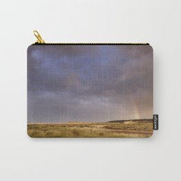 Storm clouds and rainbow at sunset. Holkham, Norfolk, UK. Carry-All Pouch