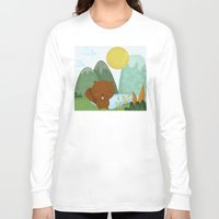 beaver Long Sleeve T-shirts featuring little beaver by Proyecto Melón