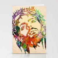 jesus Stationery Cards featuring JESUS  by mark ashkenazi