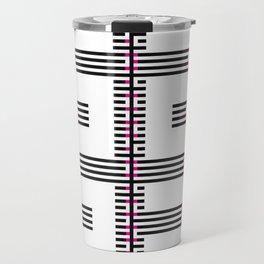 Licorice Bytes, No.15 in Black and Pink Travel Mug