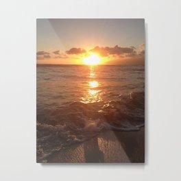 Peaceful Sunset on Waikiki Beach Metal Print