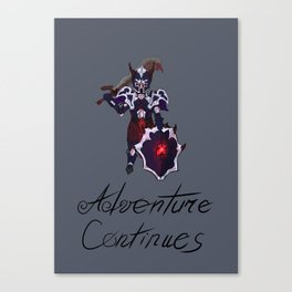 Adventure continues Canvas Print
